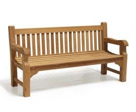 Gladstone 4 Seater Teak Outdoor Bench - 1.8m