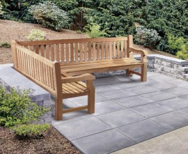 Gladstone Teak Outdoor Corner Bench - Left Orientation