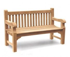 Gladstone 3 Seater Teak Garden Bench - 1.5m