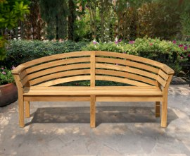 Wellington Teak 4 Seater Garden Bench - 1.95m