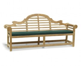 Lutyens-Style Teak Large Garden Bench - 2.25m