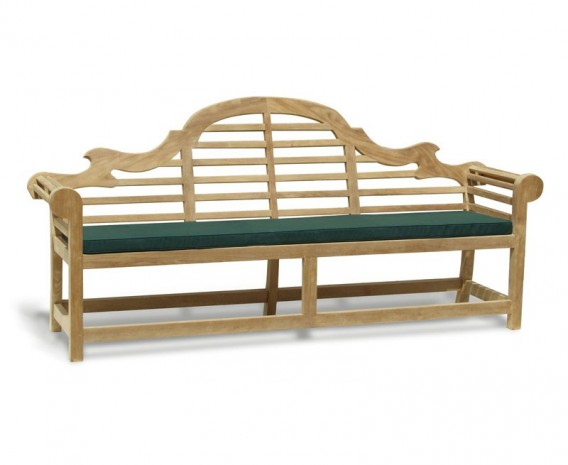 Decorative Wooden Garden Bench Lutyens-Style