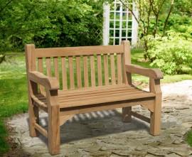 Gladstone Teak 2 Seater Garden Bench - 1.2m