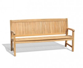 Farnsworth Large Teak Garden Bench - 1.8m