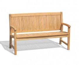 Farnsworth 3 Seater Teak Garden Bench - 1.5m