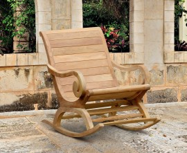Monte Carlo Reclaimed Teak Plantation Rocking Chair