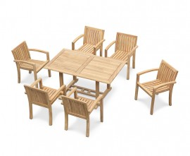 6 Seater Garden Dining Set with Antibes Chairs