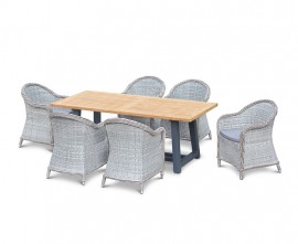 Blackrock 6 Seater Garden Dining Set with Eaton Woven Armchairs