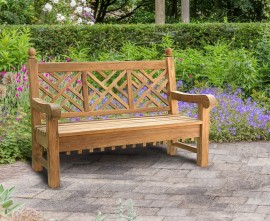 Churchill Teak Decorative Garden Bench