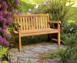 York 2 Seater Teak Garden Bench - 1.2m