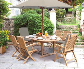 Oxburgh Extending 1.2 - 1.8m Table & 6 Cannes Chairs