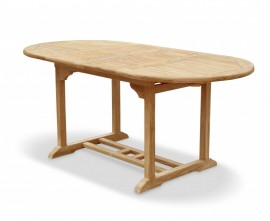 Oxburgh Bijou Extendable Double-Leaf Teak Table - 1.2-1.8m