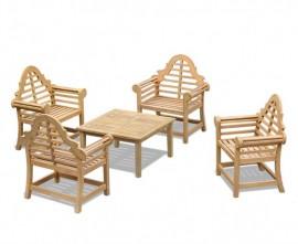 Lutyens-Style 4 Seater Teak Conversation Set