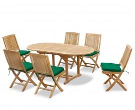 Oxburgh Bijou Double Leaf Extending Table & Palma Folding Chairs