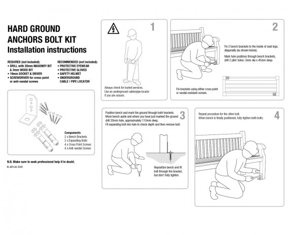 Ground Anchor Kit for Hard Surfaces