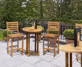 Sissinghurst Teak Bar Table and Stools Set