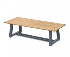 Blackrock Teak Trestle Garden Table with Aluminium Legs – 2.6 m
