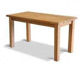 Mita Teak Rectangular Garden Dining Table – 1.4m