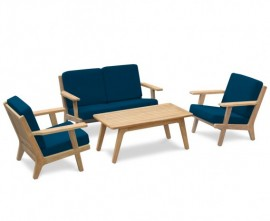 Belmont Mid-Century Deep Seated Teak Garden Furniture Set