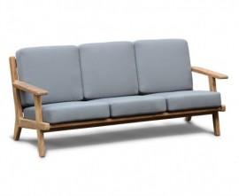 Belmont Teak 3 Seater Mid-Century Garden Sofa
