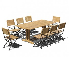 Cornwall 8 Seater Rectangular 1.8m Table with Café Chairs