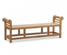 Lutyens-Style Teak Backless Bench - 1.95m