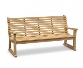 Primrose Teak Sled Park Bench - 1.8m