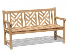 Chartwell Teak 3 Seater Garden Bench - 1.5m