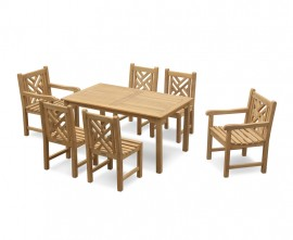 Hampton 6 Seater Rectangular 1.5m Dining Set with Chartwell Chairs