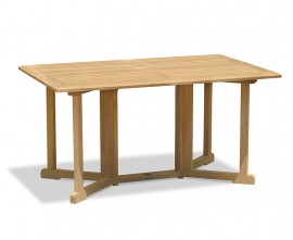 Byron Teak Drop Leaf Garden Table - 1.5m