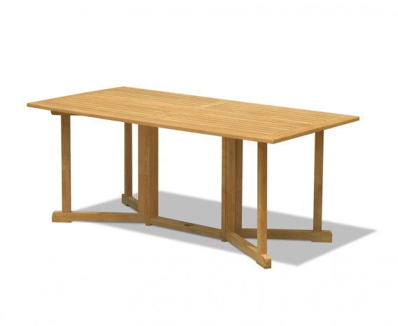 Byron Teak Drop Leaf Outdoor Dining Table - 1.8m