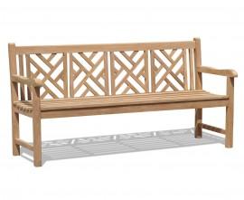 Chartwell 4 Seater Teak Garden Bench - 1.8m