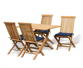 Teak Folding Table & Chairs Set