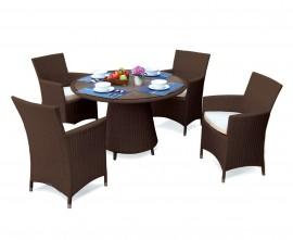 Azure Garden Dining Set in Java Brown