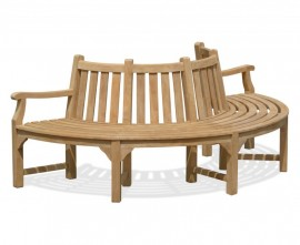 Semi-Circle Half Tree Seat with 2 Arms - 2.2m
