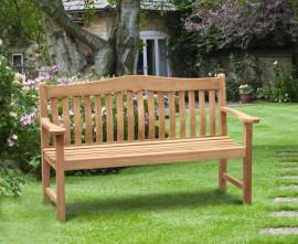 Austen Teak Garden Bench, Flat Pack - 1.5m