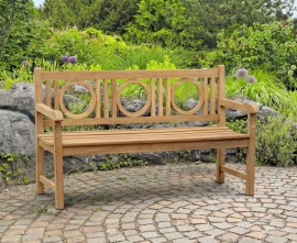 Trafalgar Decorative Garden Bench, Flat Pack - 1.5m