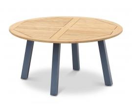 Diskus Round Teak Outdoor Table with Aluminium Legs - 1.5m