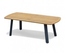 Diskus Teak Oval Garden Dining Table with Steel Legs - 2.2m