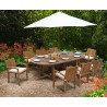 Winchester 8 Seater Teak 2.6m Oval Table with Antibes Armchairs