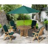 Berwick 1.2m Octagonal Gateleg Table and 4 Cannes Reclining Chairs Set