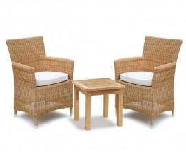 Verona 2 Seater Rattan Set, Loom Weave