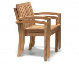 Antibes Teak Stackable Outdoor Chair