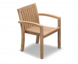 Antibes Teak Stacking Patio Chair