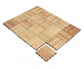 Teak Interlocking Deck Tiles - Classic Parquet