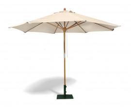 Octagonal Wooden Garden Parasol - 3m