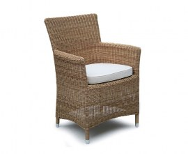 Verona Wicker Garden Armchair - Honey Wicker