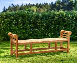 Lutyens-Style Teak Backless Bench - 1.95m
