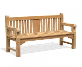 Gladstone 4 Seater Teak Memorial Bench - 1.8m