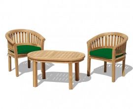 Apollo Banana 2 Seater Coffee Table and Armchairs Set